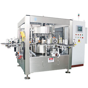 Automática de etiquetado superior máquina compacta para bolsas