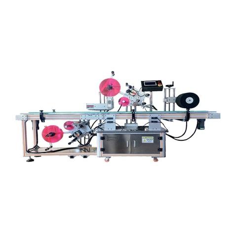 Etiquetadoras rotativas con cabezales de adhesivo en frio