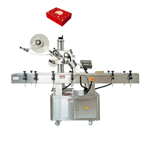 Semiautomatica etiquetadora para bolsa y plano producto.