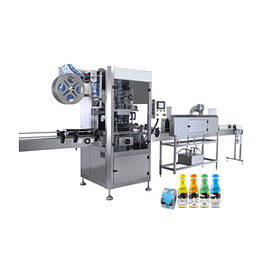 Máquina etiquetadora de tres pegatinas para vino