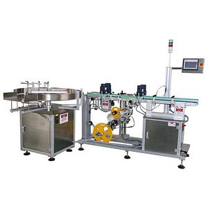 Máquina de etiquetado de bandejas de frutas
