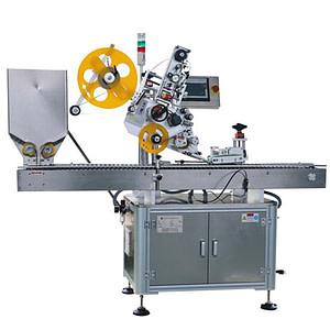 máquina de etiquetado superior y lateral de tarros