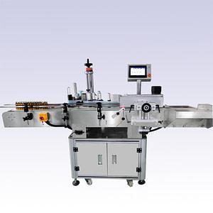 máquina etiquetadora para cajas frontal y trasera