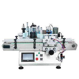 De etiqueta en inyección de máquina de etiquetado