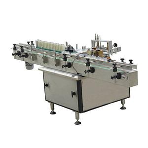 Máquina de etiquetado lateral múltiple de botella plana