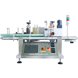 Máquina de etiquetado superior e inferior de clamshells
