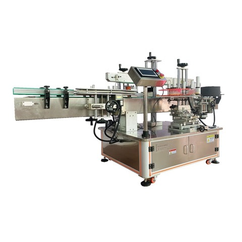 plane labeling machine for jar lid vertical adhesive sticker...