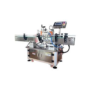 máquina de etiquetado con etiqueta transparente